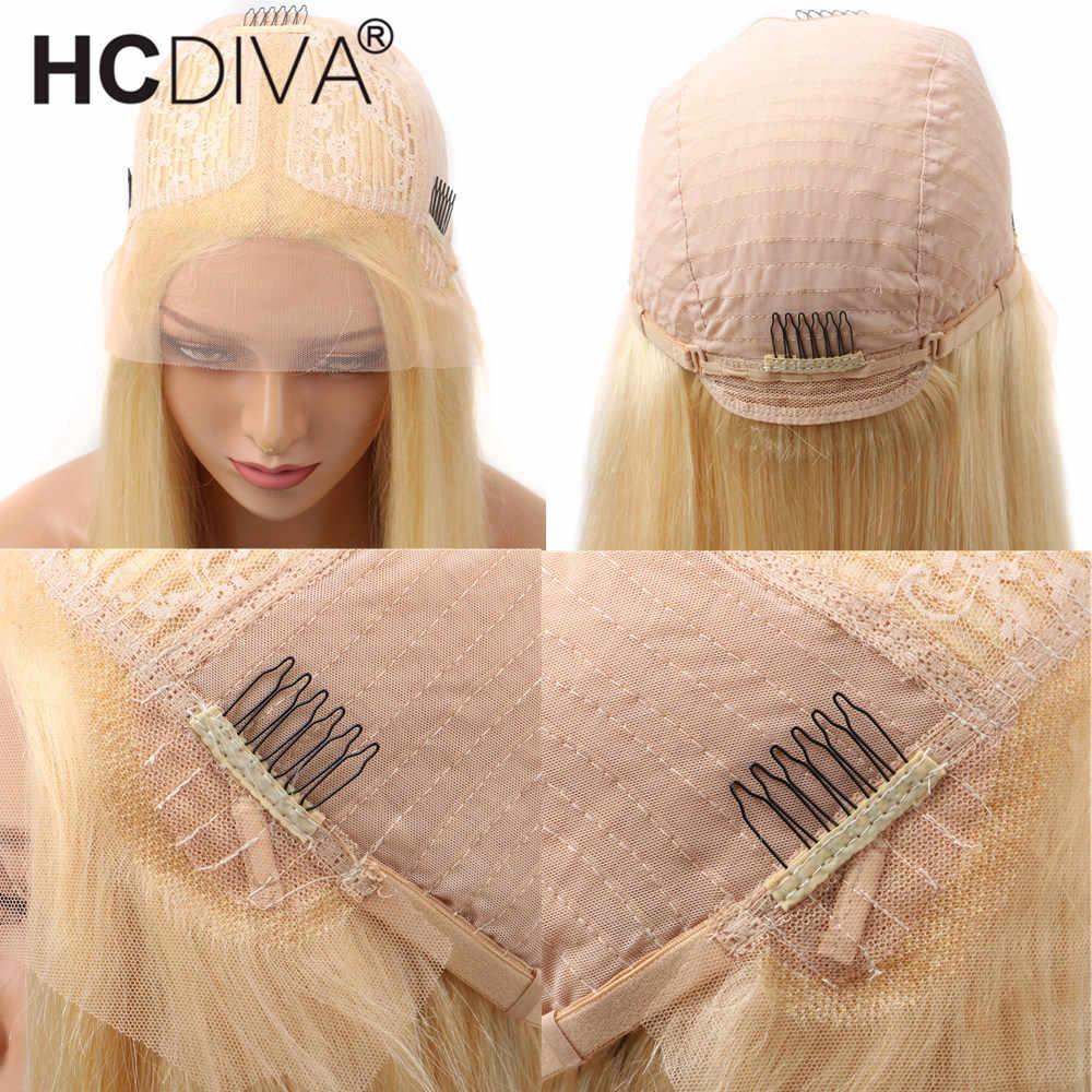 613 peluca Frontal de encaje transparente 13x4 Remy Rubio onda del cuerpo brasileño de encaje Frontal pelucas de cabello humano Pre desplumado 360 peluca Frontal de encaje