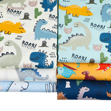 Twill Printed Cotton Fabric Patchwork Cloth Cartoon Dinosaur Series  Sewing&Quilting DIY Bed Sheet Material For Baby&Child 6Pcs 100x160cm pure cotton fabric cloth for baby bed sheet patchwork quilting twill bedding cartoon fabrics diy dolls sewing textile