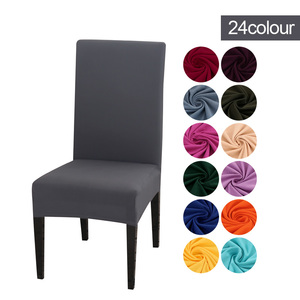 Slipcover Removable Anti-dirty Seat Chair Cover Spandex Kitchen Cover for Banquet Wedding Dinner Restaurant housse de chaise 1PC