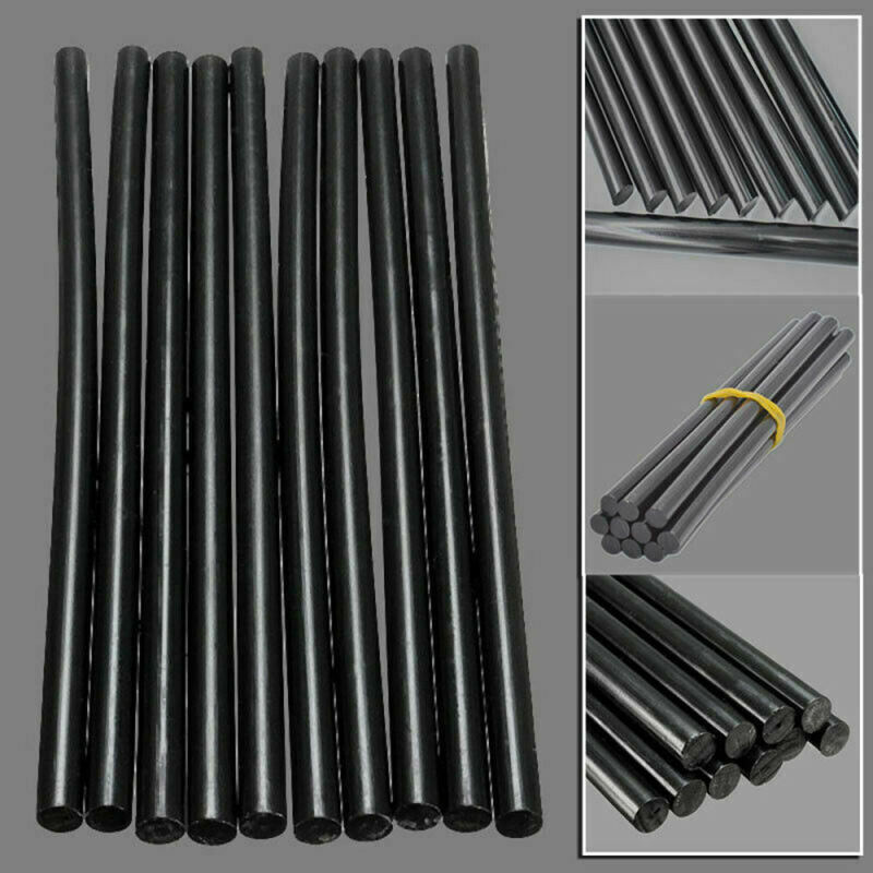 10* Black Melt Glue Sticks Car Hail Dent Paintless Removal Hand DIY Repair For Electric Glue Gun Craft Album Alloy Accessories