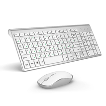 JOYACCESS ensemble de souris de clavier et de souris ergonomique sans fil, argent, pour bureau