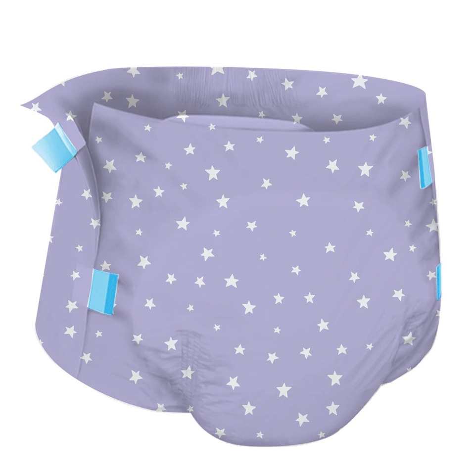 3Pcs 6000ml Adult Baby Diaper ABDL White Without Printing Adult Nappe M Size Adult Diapers Of Baby Girl, Of Baby Boy