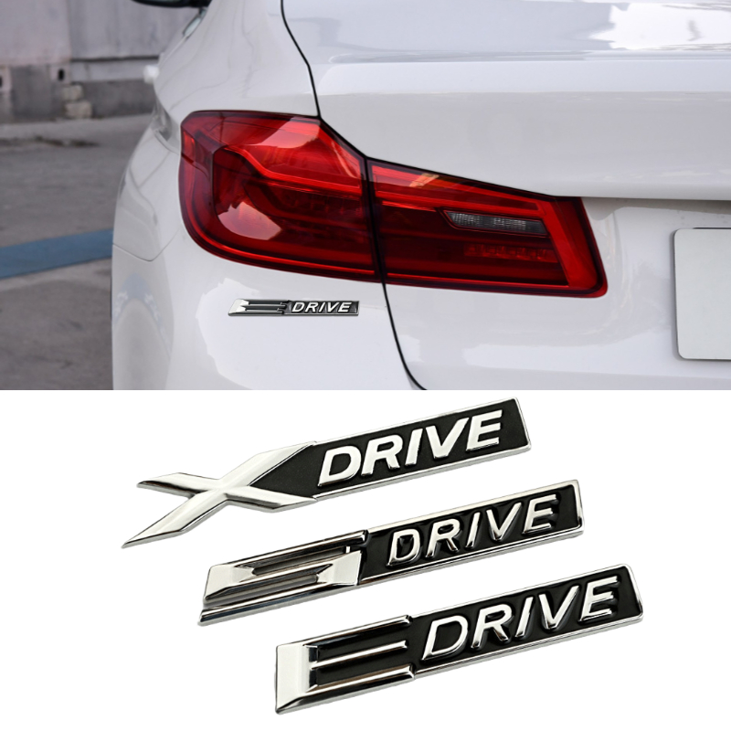 Car Rear Badge Sticker for BMW X DRIVE S DRIVE E DRIVE 320 E90 E36 E60 E39 E30 E65 E46 M4 M3 M2 F30 F31 F10 X1 X5 Trunk Emblem image