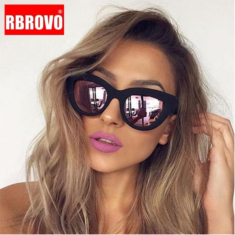 RBROVO 2019 Vintage Sunglasses Women/Men Cat Eye Luxury Sun Glasses Classic Shopping Beach Goggle Oculos De Sol UV400