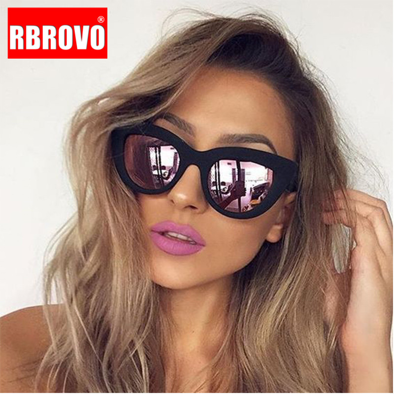 RBROVO 2019 Vintage Sunglasses Women/Men Cat Eye Luxury Sun Glasses Classic Shopping Beach Goggle Oculos De Sol UV400