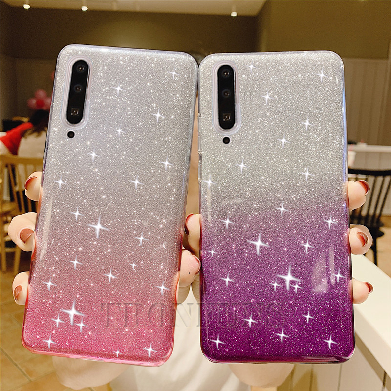 Bling Glitter Silicone Case For <font><b>Samsung</b></font> Galaxy <font><b>A50</b></font> A30 A70 A20 A20E A10 A40 A60 A80 A90 <font><b>2019</b></font> M10 M20 M30 M40 Case Soft TPU <font><b>Cover</b></font> image