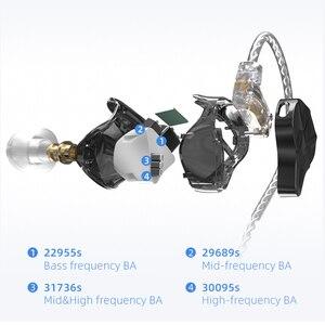 Image 5 - سماعات رأس KZ ASF 5BA 10 ذات محرك متوازن HIFI داخل الأذن مع شاشة DJ مع خاصية إلغاء الضوضاء KZ ZSX ZAX ASX SA08 AS16