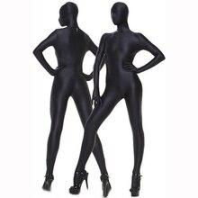 Bodysuit Open-Crotch Bondage Spandex Tghts Sexy Hot Erotic Woman All Zipper Inclusive
