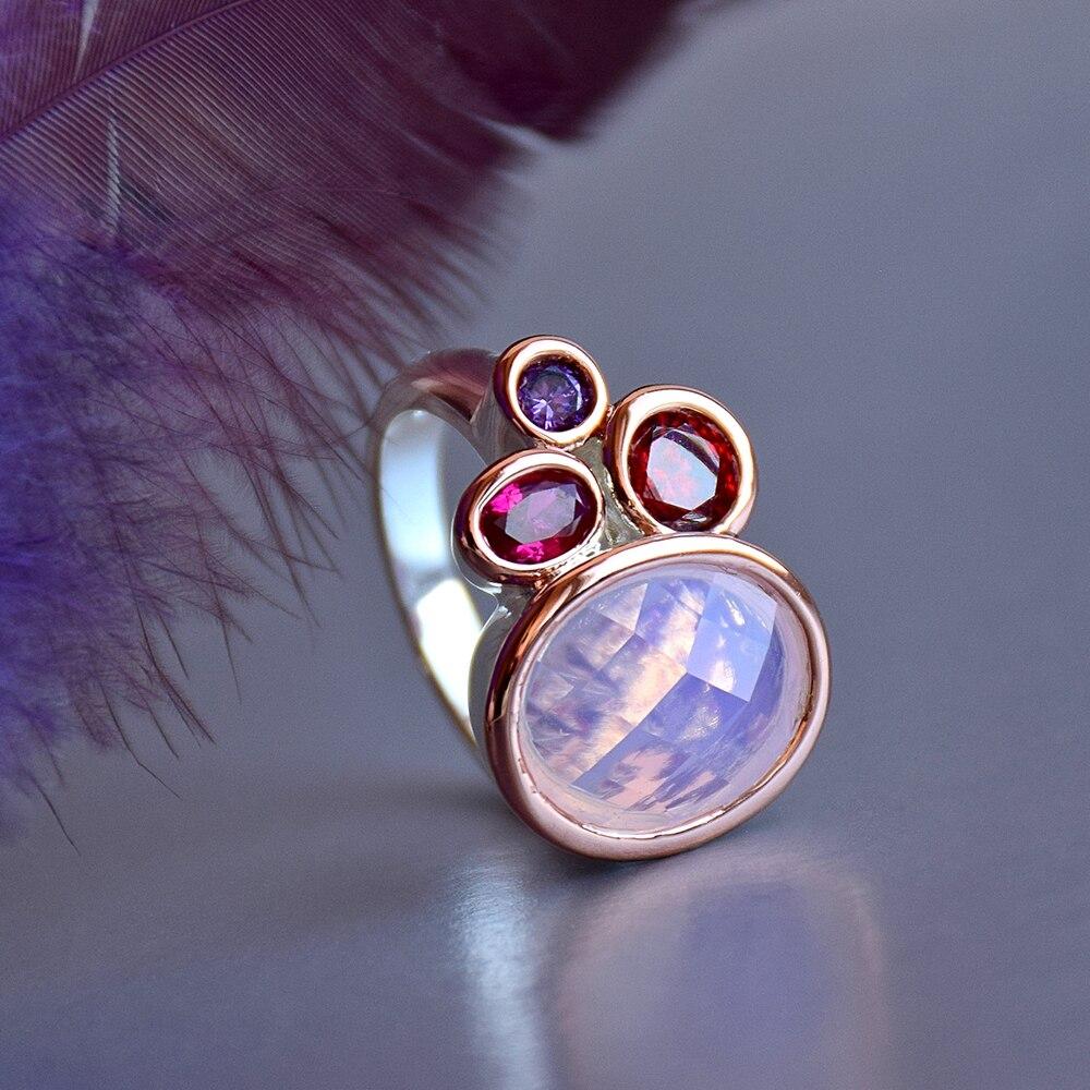 WA11703 DreamCarnival1989 Dazzling Pink Tone Zirconia Rings for Women Top Quality Radiant Cut CZ Chic Fashion Wedding Jewelry (5)