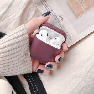 Image 5 - 애플 airpods에 대 한 원래 1 2 무선 블루투스 이어폰 케이스 애플 airpods에 대 한 다채로운 캔디 새로운 pc 하드 귀여운 커버 상자 케이스