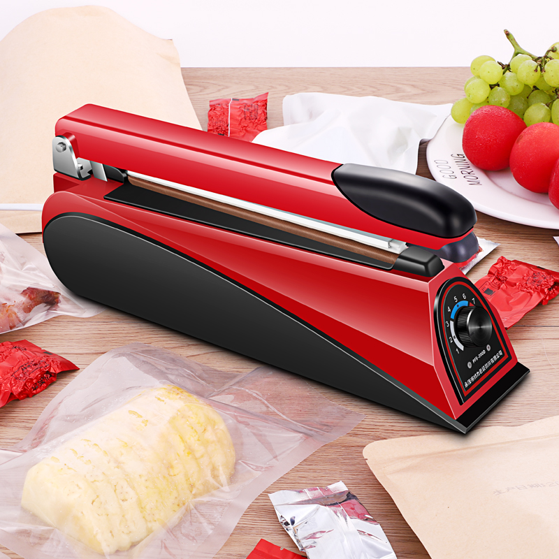 220V 8 Inch Impulse Sealer Heat Sealing Machine Kitchen Food Sealer Vacuum Bag Sealer Bag Packing Tools Eu Plug  Portable