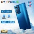 Самый дешевый смартфон S21 Ultra 6 ГБ + 128 ГБ 6,1 дюймов полный Экран смартфон 24MP + 48MP Камера 5000 мАч сотовый телефон Быстрая доставка