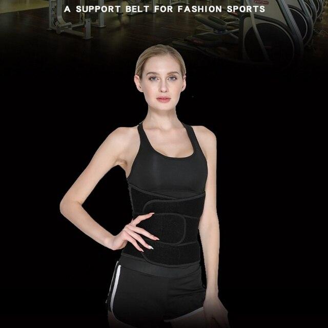 Sport Safe Accessories Women Waist Trimmer Belt Weight Loss Sweat Band Wrap Fat Tummy Stomach Sauna Sweat Belts 5