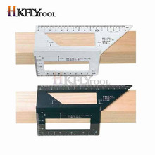 T-Ruler Gauge Measuring Protractor Scriber Woodworking Square Multifunctional-Angle Aluminum-Alloy