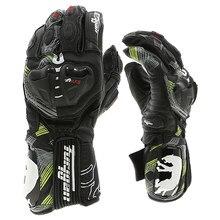 Retro de cuero de la motocicleta guantes de protección Furygan AFS 19 De cuero genuino dedo completa guantes de la motocicleta de carbono guantes de moto