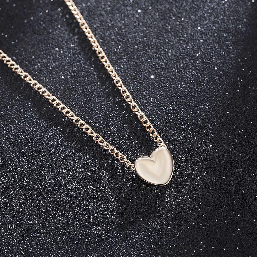 2019 Новая модная женская Золотая подвеска в форме сердца свадебное ожерелье оптовая продажа