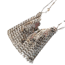 Women Bags Designer Silver Metal Sequins Chain Woven Bag Hollow Evening Bags Clutch Female Travel Holiday Shoulder Bag Handbag