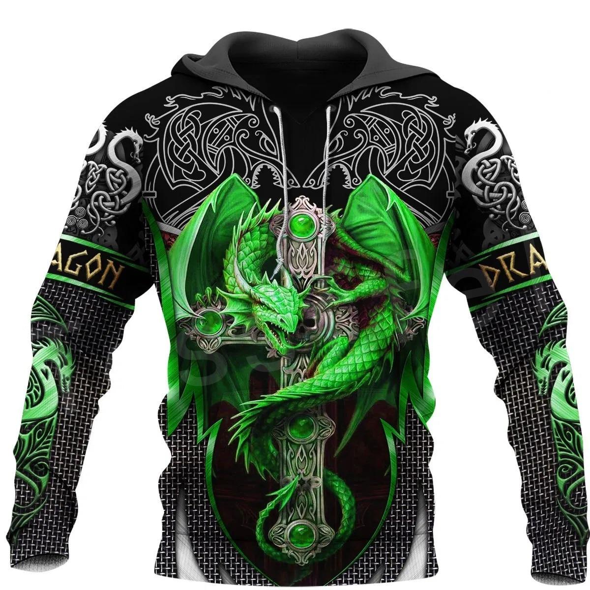 Tessffel Animal Art Fly Dragon Symbol Tattoo Unisex 3DPrint Tracksuit Newfashion Streetwear Zipper/Sweatshirts/Hoodies/Jacket S1