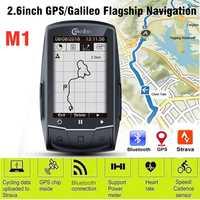 Velocímetro inalámbrico Meilan GPS para bicicleta con Bluetooth ANT bicicleta de velocidad, odómetro Sensor de cadencia Monitor de ritmo cardíaco opcional