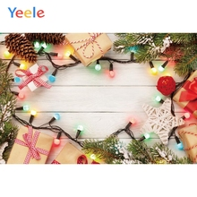 Yeele Christmas Photocall Ins Wood Lights Gifts Photography Backdrops Personalized Photographic Backgrounds For Photo Studio