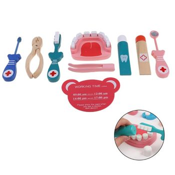 Kids Doctor Toys Role-playing Games Pretend Play Wooden Medical Kit Set Pretend Doctor Play Toys for Children pretend doctor play wooden toys for children role playing doctor nurse game funny gifts for kids