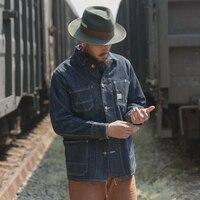 Bronson vintage railway jacket mans raw denim jacket