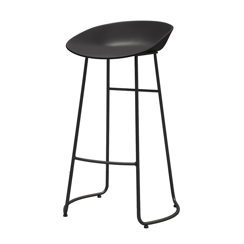 Light Luxury Nordic Simple Bar, Iron  Chair, Stool, Leisure Coffee Shop, Front Desk, High  Designer's Bar Stool