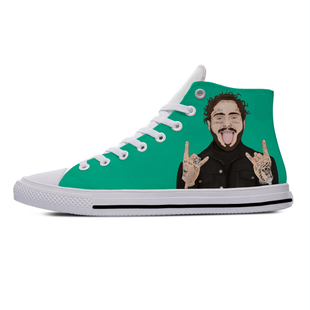 Post Malone Cartoon Casual Cloth Shoes  1