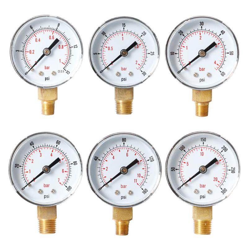 Pressure Gauge 52mm Dial 1/8