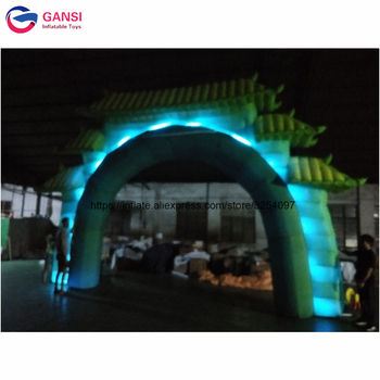 Free shipping 8m large outdoor light arch factory price inflatable event with led