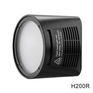 Image 4 - Godox AD200 V1 PRO Glash Accessory WITSTRO H200R Round Flash Head and EC 200 Extension Head AK R1 Color temperature reflector