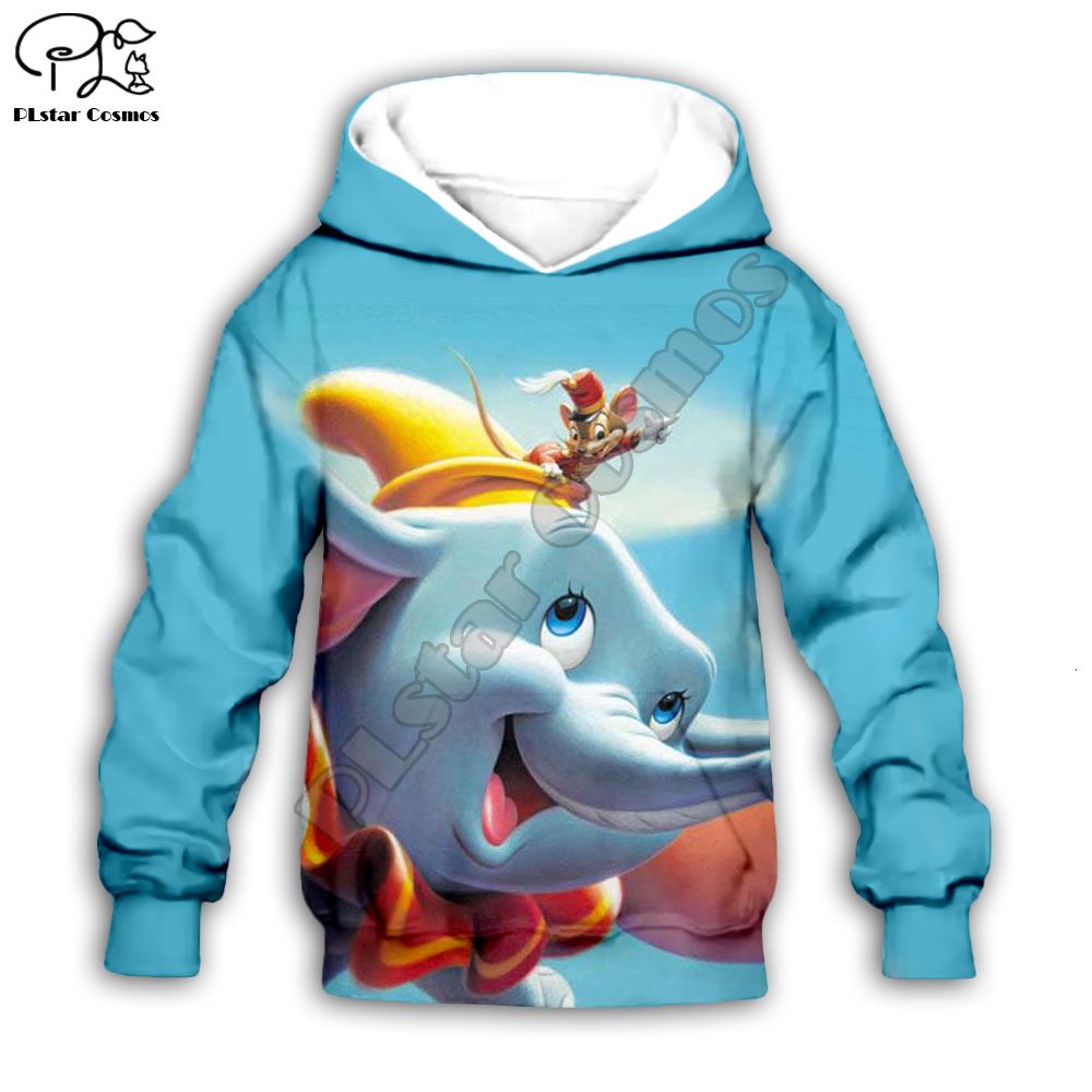 Children's Clothing Mother&Kids Baby Anime Dumbo Print 3D Hoodies Zipper Coat Boy Girl Sweatshirt Daughter Jacket/pants