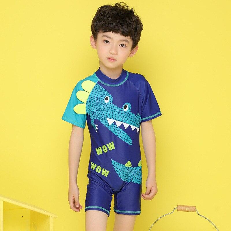South Korea New Style KID'S Swimwear BOY'S Cute Cartoon One-piece Baby BABY'S Bathing Suit Dinosaur Hot Springs Swimming Trunks