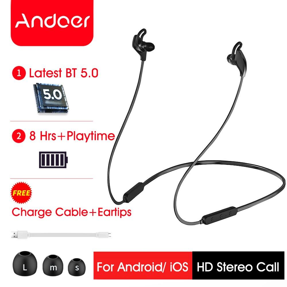 Andoer D1 Wireless Sport Headset Wireless Headphones Bluetooth Earphone HD Stereo Earbuds for iPhone Huawei Samsung(China)