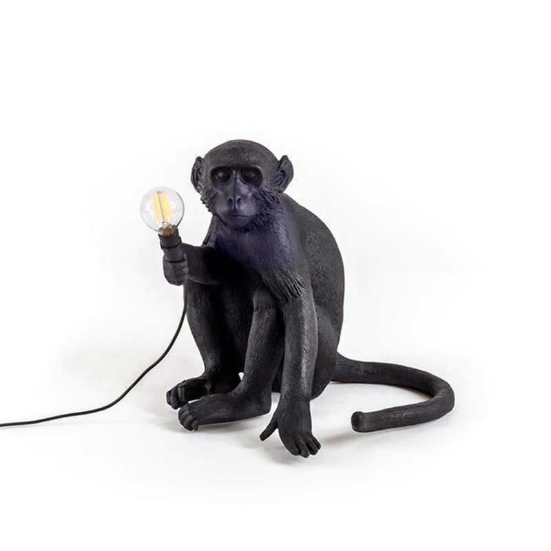 Современная лампа в форме обезьяны веревка светодиодный подвесной светильник освещение Nordic Art скандинавские реплики Смола Seletti Подвесная лампа в форме обезьяны светильник