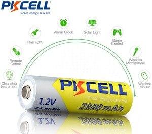 Image 5 - 10 PCS 2A PKCELL AA 2600 ~ 2800 mah baterias recarregáveis 1.2 v ni mh para lanterna brinquedo câmera de alta capacidade