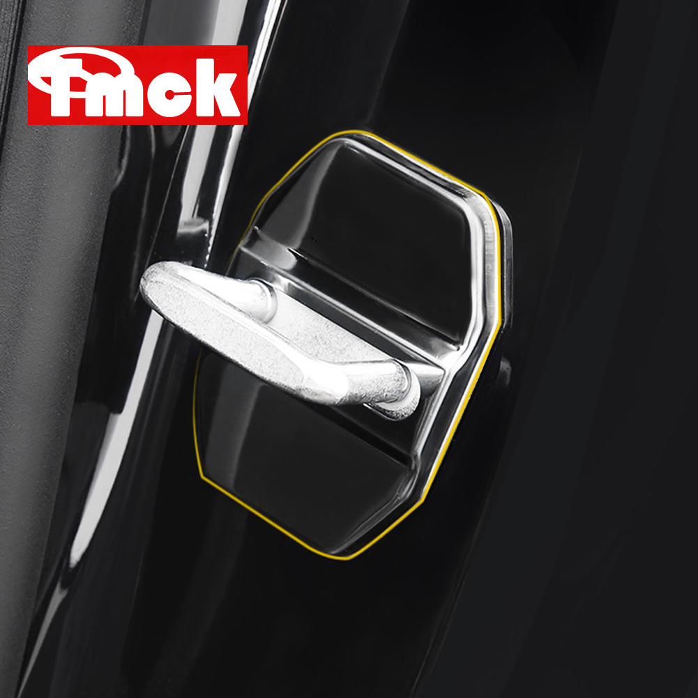 For Mercedes Benz A C E GLC Class W177 V177 W205 W213 X253 Stainless Steel Car Accessories Door Lock Buckle Protector Cover Trim