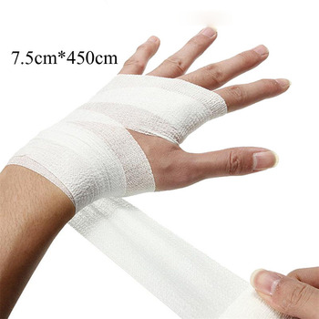10 rolls 5cmx4 5m pbt elastic bandage gauze roll home family first aid wound sports nursing medical emergency care bandage 1pcs Elastic PBT Bandage for Fracture Fixation First Aid Kit Sports Body Gauze Vet Tape Security Protection Emergency 7.5*450cm