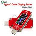 TC64 Typ-C LCD Farbe USB Voltmeter Amperemeter Spannung Strom Meter Kapazität Energie Power Temperatur Multimeter USB Tester