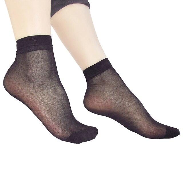 Женские летние тонкие шелковые прозрачные сексуальные нейлоновые носки 3