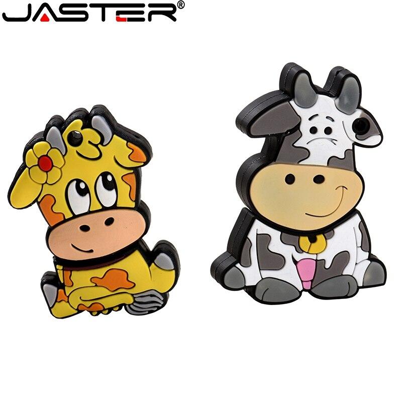 Pen drive 4gb 16gb 8gb 64gb 32gb 128gb usb2.0 memória vara u disco forma presente bonito dos desenhos animados brinquedo preto amarelo flash drive