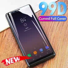 Curved Full Cover Tempered Glass For Samsung Galaxy S9 S8 Plus S7 S6 Edge Screen Protector Protective For Note 8 9 Glass Film все цены