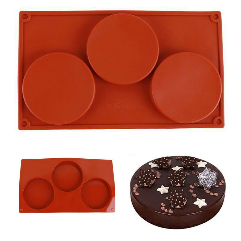 2020 HOT Style 3-Cavity Silicone Disc Mold Bakeware Cake Pie Coaster Non-stick Mould Tool Chocolate Mould Cake Tools Bakeware