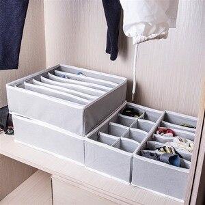 Image 5 - 4 stücke Faltbare Mehrzweck Schublade Organizer Divider Lagerung Box Fall Closet Kleidung Unterwäsche Socken Panty Organizer Dropshipping