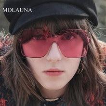 MOLAUNA Oversized Sunglasses Women Luxury Rimless For Brand Designer Square Glasses Oculos De Sol UV400