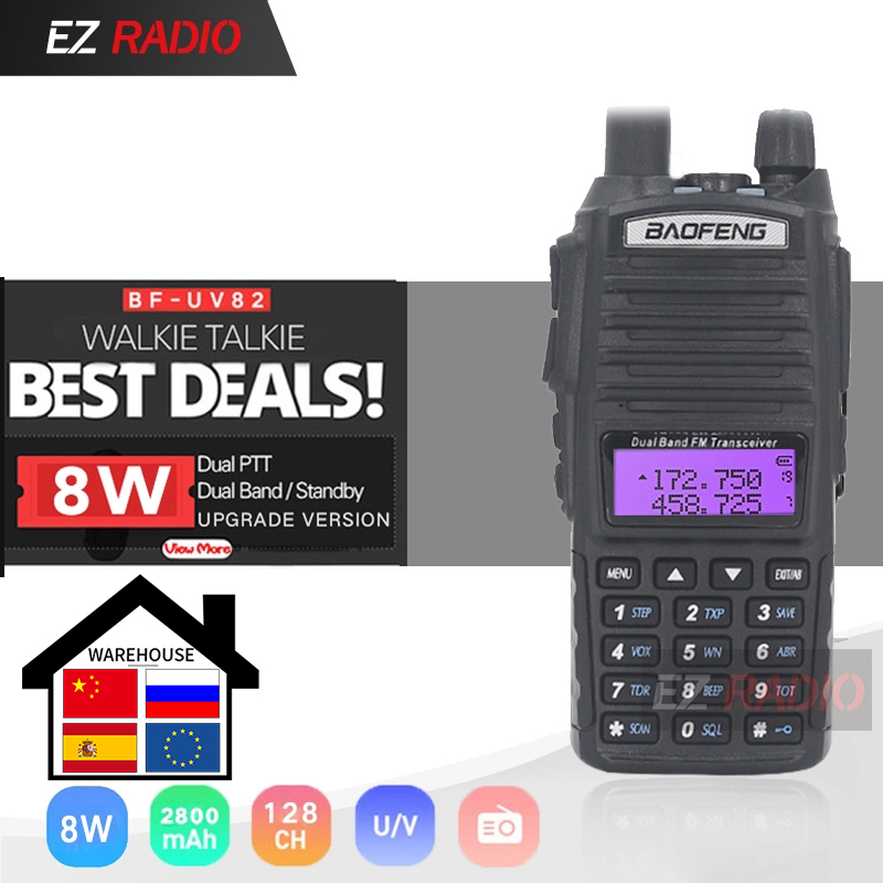 Upgrade 8W BaoFeng UV-82 Portable Ham Radio 10 KM Baofeng UV 82 High 8W Walkie Talkie 10 Km Baofeng UV82 Good As Baofeng Uv-9r