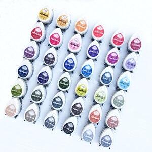 Image 1 - (10 adet/grup) hızlı kurutma gözler pigment mürekkep pedi damla şekli dekorasyon için oyma lastik damga, karalama defteri inkpadler için DIY yaratıcı