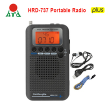HanRongDa HRD 737 Portable Radio Aircraft Full Band Radio FM/AM/SW/CB/Air/VHF Receiver World Band with LCD Display Alarm Clock