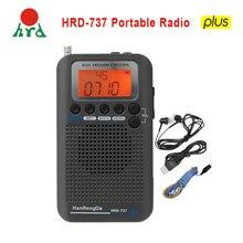 Hanrongda HRD 737ポータブルラジオ飛行機フルバンドラジオfm/am/sw/cb/空気/vhf帯受信機世界バンドlcd表示アラーム時計