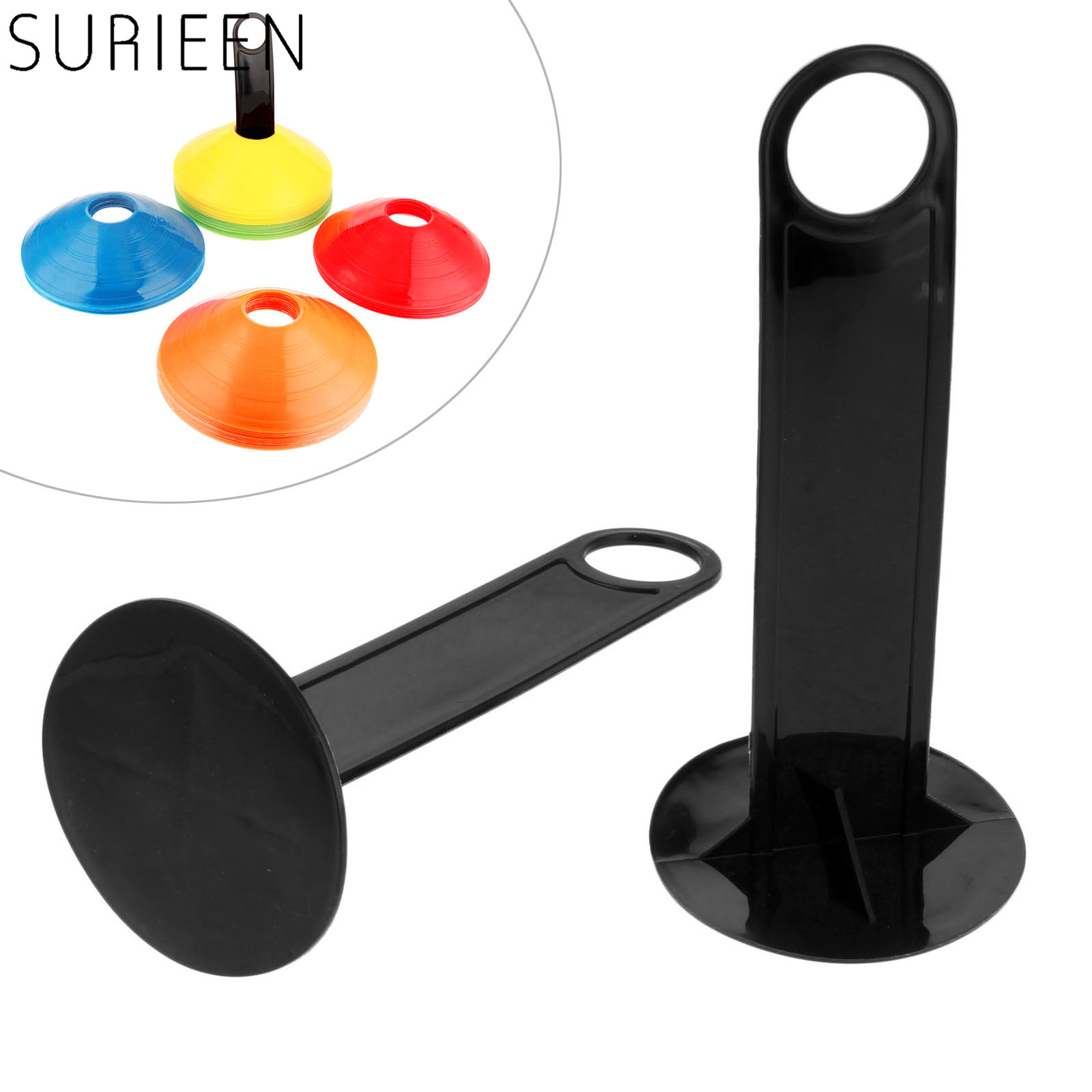 1 Pc Easy To Carry/store Soccer Drill Agility Training Marker Disc Cone Holder Carrier Caddy Sport Plastic Football Accessories